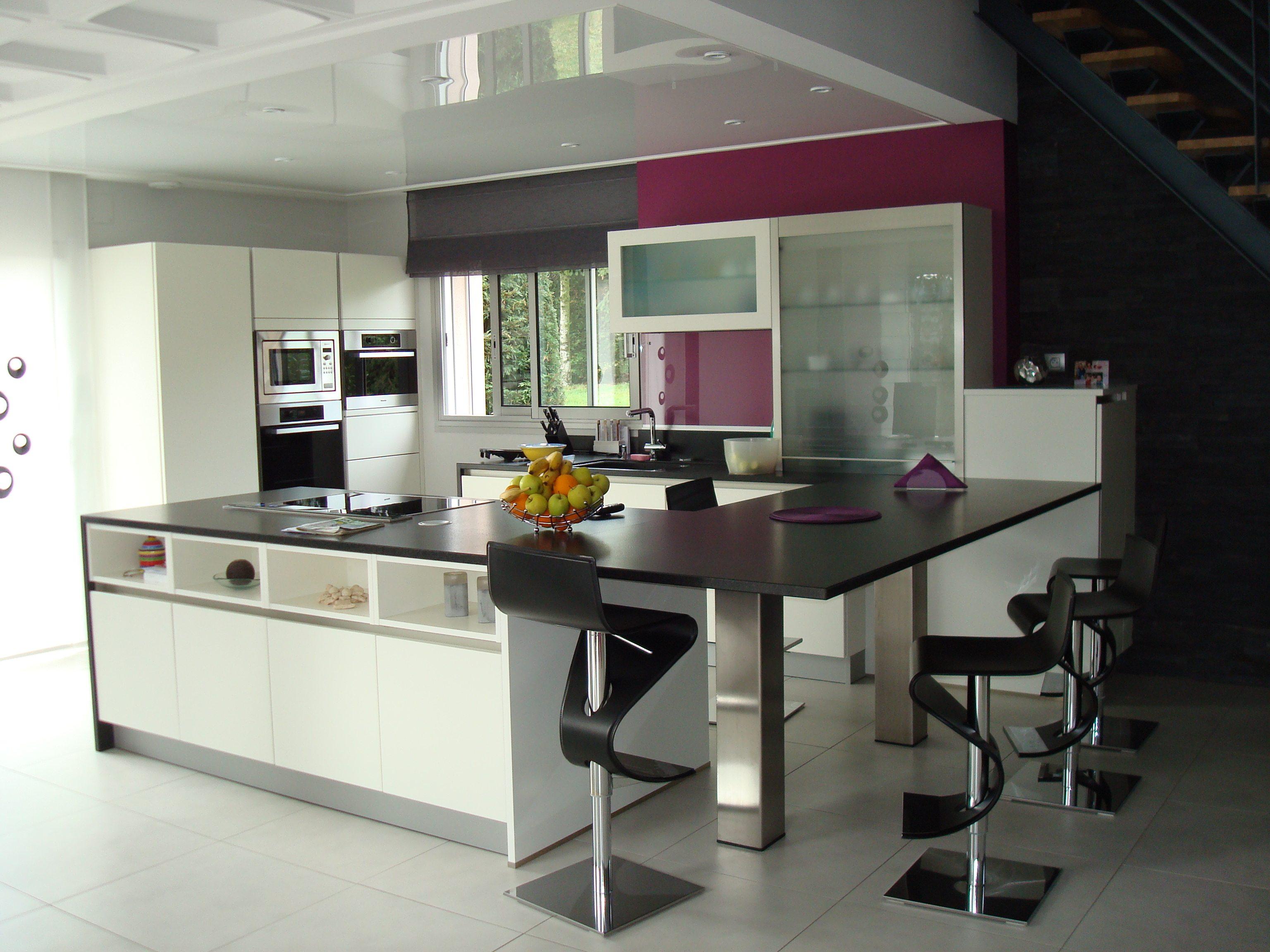 modèle de cuisine blanche - art & création